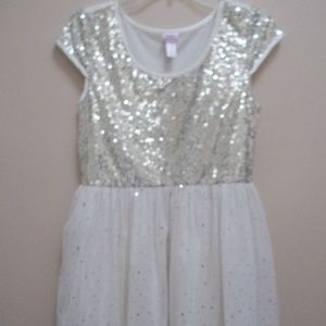 Off White Sequin Girls Dress by Justice